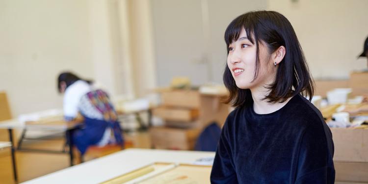 芸術学部 美術学科 日本画専攻 3年 亀川 果野さん