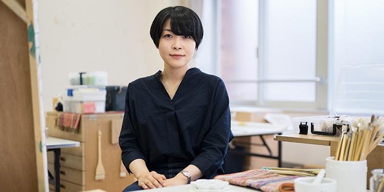 芸術学部 美術学科 日本画専攻 3年 森下 真帆さん
