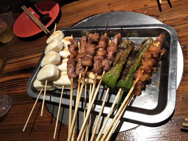 おいしい羊肉の串焼き