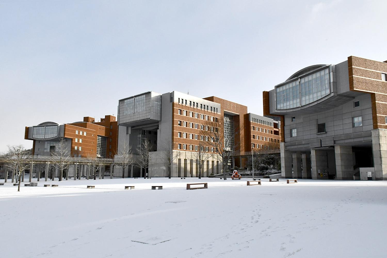 学内の雪景色1